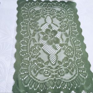Lace place mat olive green